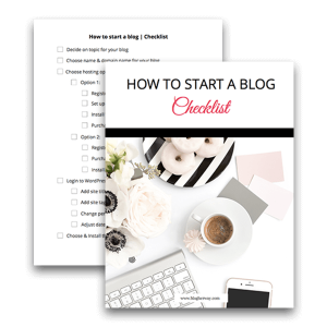 Paper preview of How To Start a Blog Checklist Sign up to download