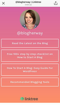 Awesome Blogging Tips! Are you using Linktree with your Instagram account. Linktree is a great way to send your Instagram audience to different places.