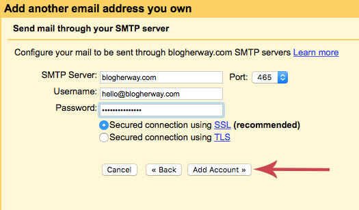 Screenshot on how to use domain email with gmail for free
