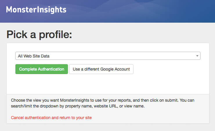 Screen shot on how to add google analytics to wordpress image 7