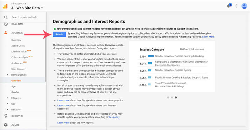 Screen shot on how to add google analytics to wordpress image 10