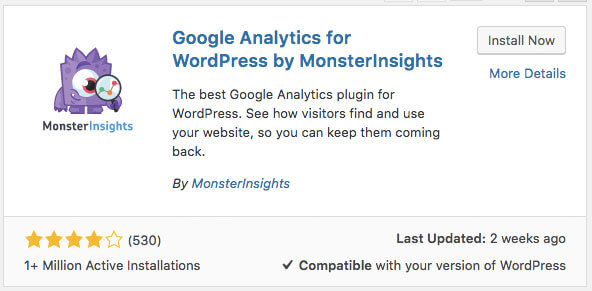 Screen shot on how to add google analytics to wordpress image 5