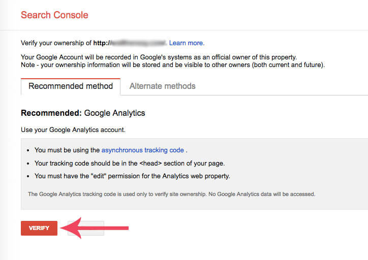 How to set up google search console tutorial image 2