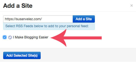 screenshot of tailwind's content discovery feature - how to add a site to your personalized feed