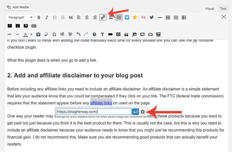 how to make link no follow