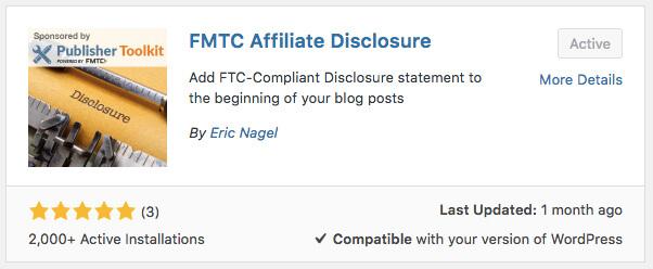 fmtc affiliate disclosre plugin