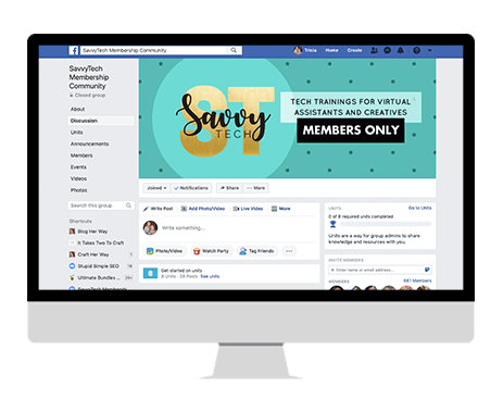 savvy tech training facebook group bonus