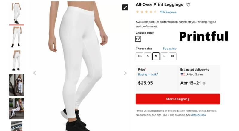 print on demand printful leggings