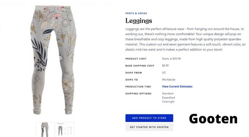 print on demand leggings Gooten