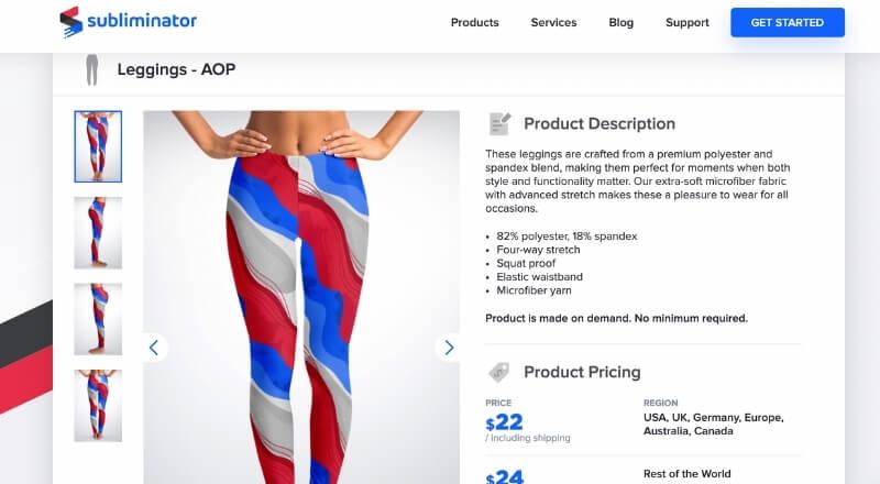 print on demand leggings sublimator
