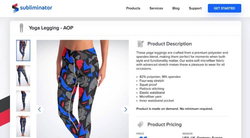 print on demand yoga pants Sublimator