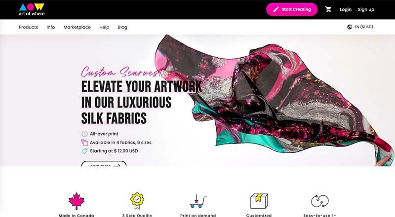 Art of Where Print on Demand provider