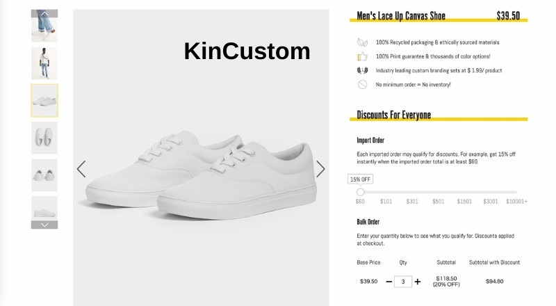 KinCustom Lace Up Canvas shoes