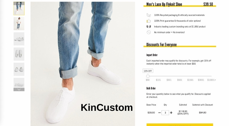 KinCustom Lace Up Flyknit shoes