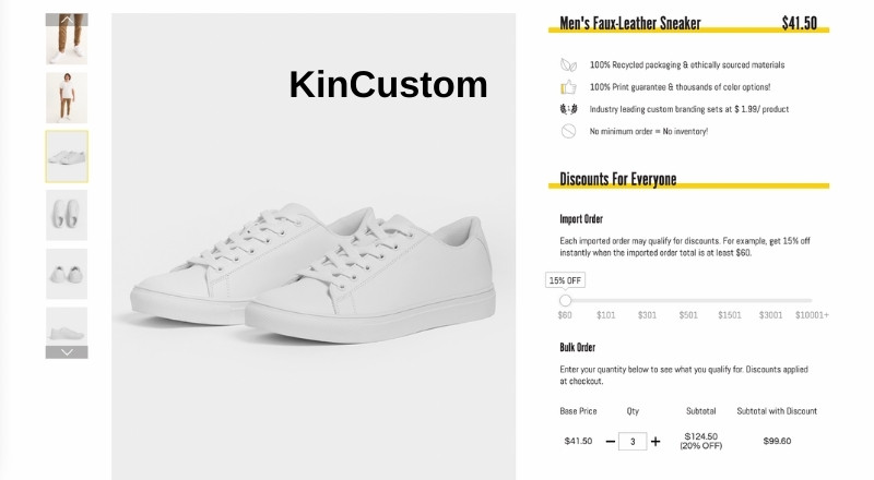 KinCustom print on demand Faux-leather sneaker