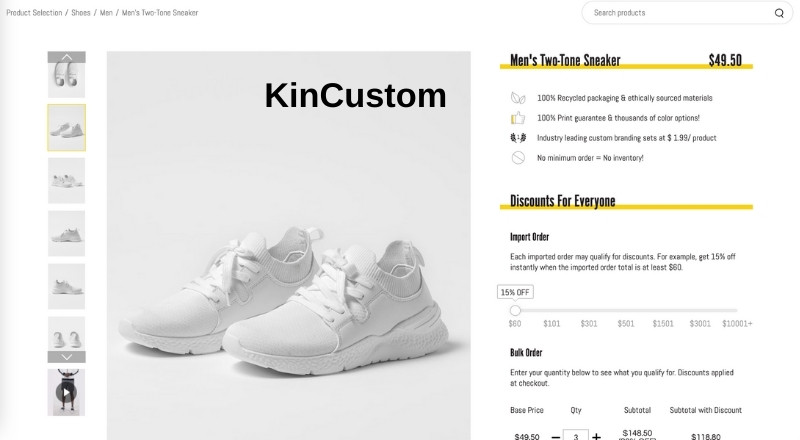 KinCustom Two-toned sneakers